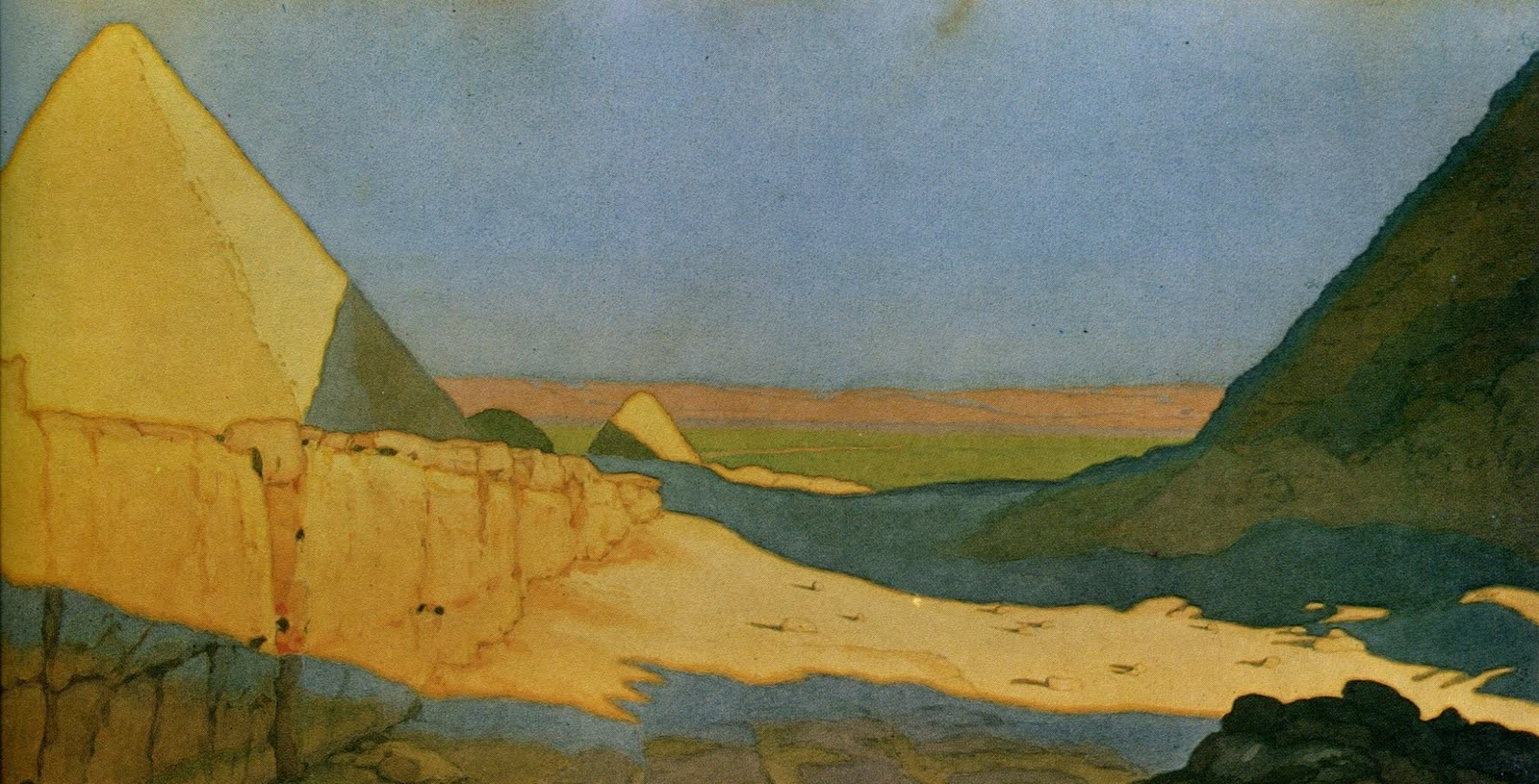 Ivan Bilibin - The Pyramids (1924)