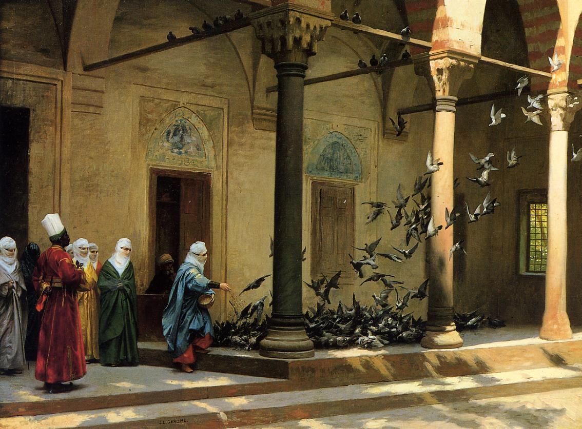 Jean-Léon Gérôme - Women Feeding Pigeons