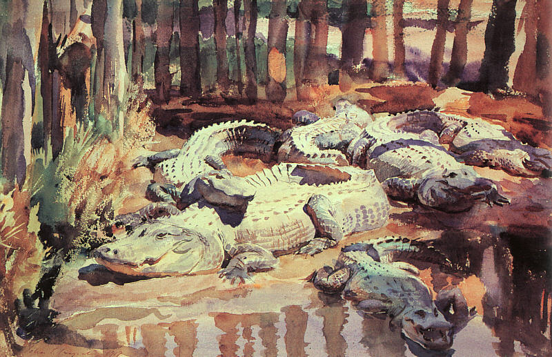 John Singer Sargent - Muddy Alligators (1917)